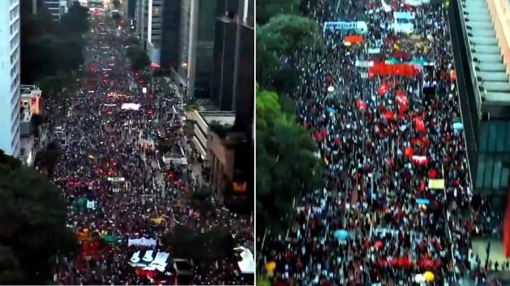 Ato contra Bolsonaro na Paulista bloqueia os dois sentidos da avenida