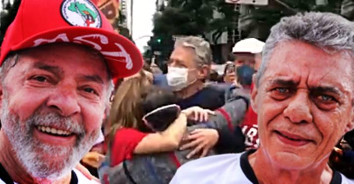 """[Vídeo] LULA celebra o aniversário de Chico Buarque, que grita """"Fora Bolsonaro"""" aos 77 anos"""