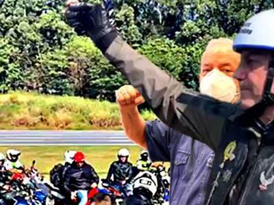 Bolsonaro e Lula - sobreposição de imagens