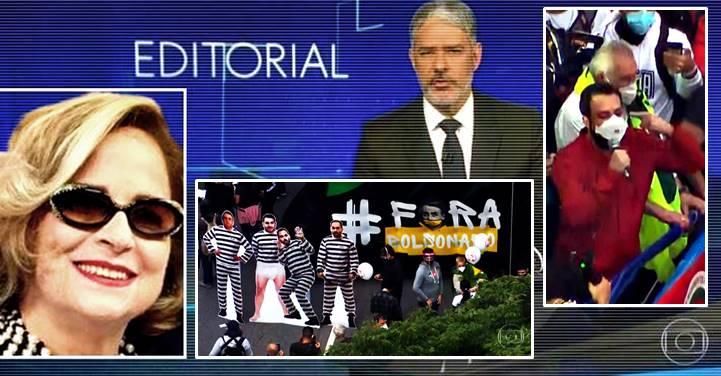 """Jornalista elogia o JN por mostrar o '19J', não esconder Lula e endurecer com o """"genocida"""" em edição de 6 min"""