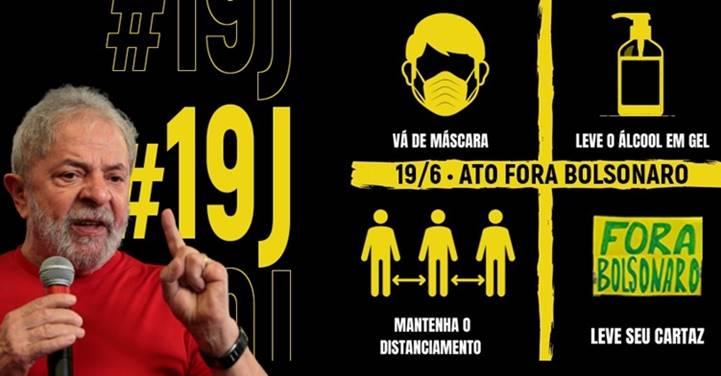 LULA e o '19J': as 438 cidades, 51 delas no exterior, onde ocorrem os atos contra Bolsonaro neste sábado