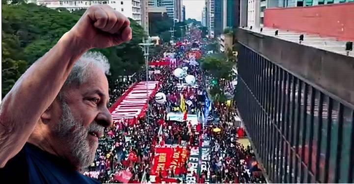 LULA divulga imagens capturadas pelo drone de seu fotógrafo durante agitação do '19J' na Paulista