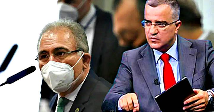 """""""Despreparo e subserviência"""" de Queiroga """"o qualificam para ser ministro de Bolsonaro"""", diz Kennedy Alencar"""