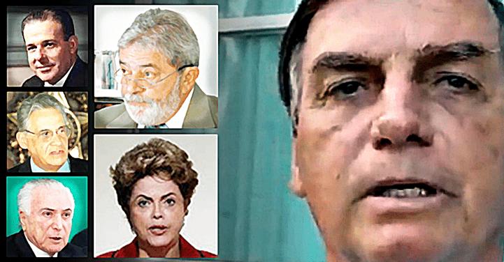 Silêncio de Bolsonaro destoa dos discursos de LULA, DILMA e outros presidentes em situações de tragédias
