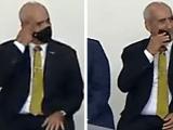 [Vídeo] Ramos retira máscara e a esfrega na boca