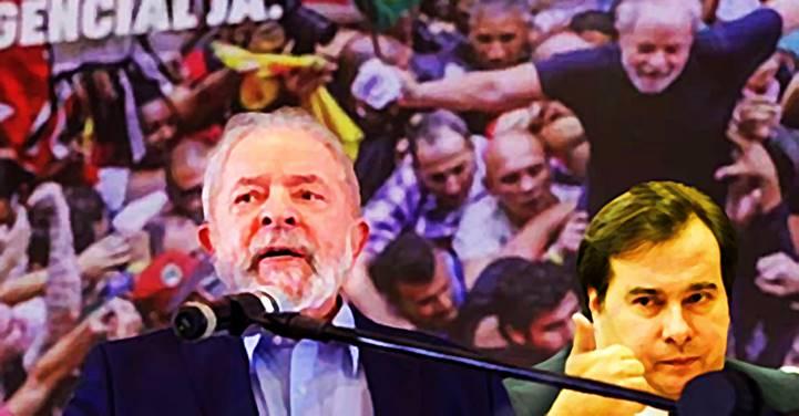 Rodrigo Maia é Lula em 2022